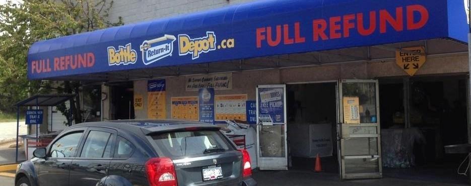 Bottle depot Quadra Street Victoria BC